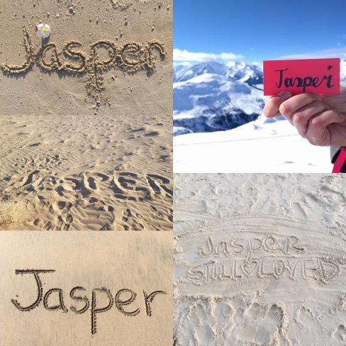 Jasper's name has graced the landscapes of so many places around the workd including Mongolia, USA, UAE, Canada, Australia, Norway and France. Our little boy will soon be better travelled than we are! Seeing his name and knowing that he is remembered by so many means so much to us.